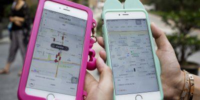 iphone uber didi ride hailing apps