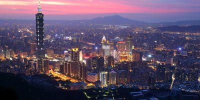 taipei taiwan city lights dusk