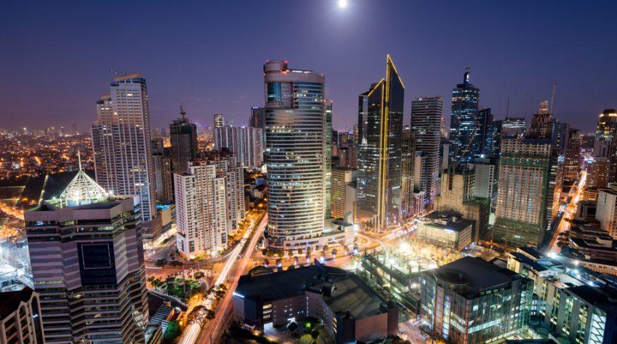 Makati Skyline at night skyscraper manila philippines