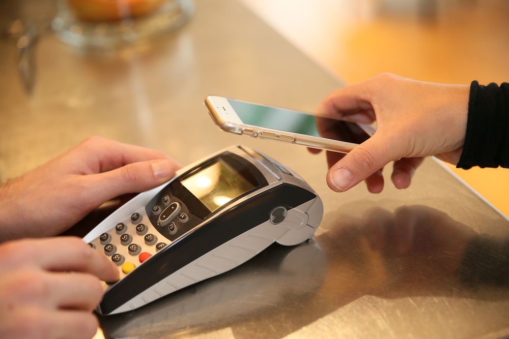 Payment transaction with smartphone apple pay