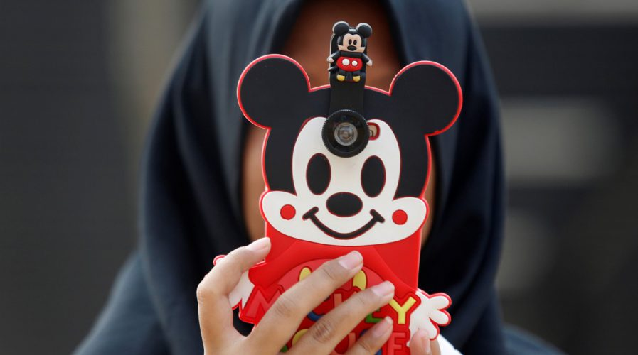 Indonesia, mickey mouse, phone