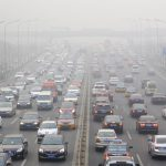 china traffic jam smog