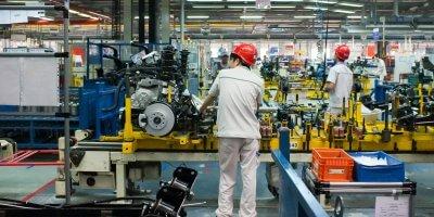 robot China man automation production