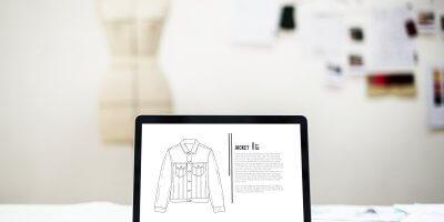 computer jacket outline