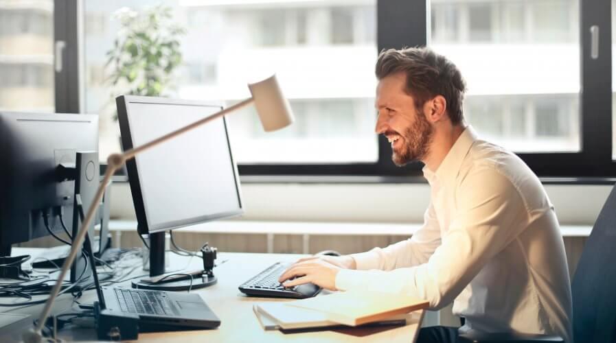 man computer