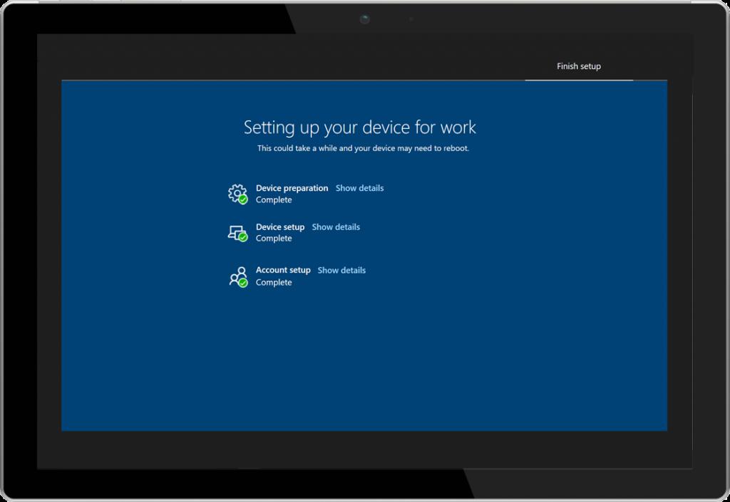Windows AutoPilot enrollment status page.