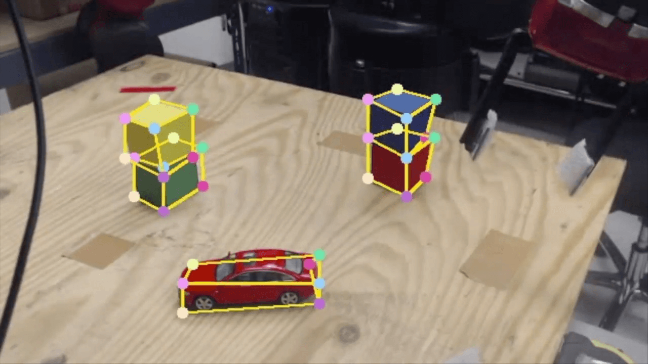 Nvidia's AI view of object recognition.
