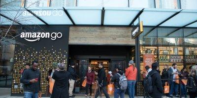 the shopfront of Amazon Go in Seattle